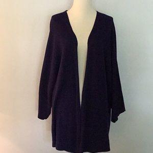 Eileen Fisher navy cotton cardigan, sz M